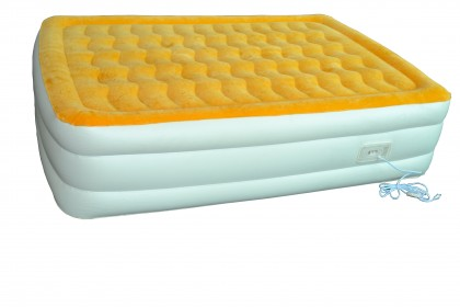"18"" High 3 Layer Flocked Air Bed"