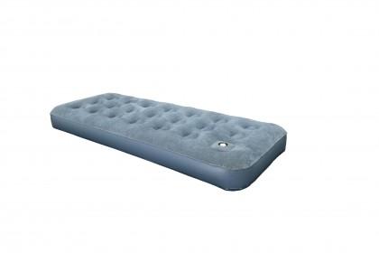 Flocked Air Bed w/Built-In Foam Pump