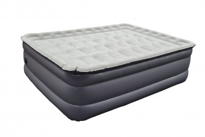 "26""High 4 Layer Flocked Air Bed w/raised up Around"
