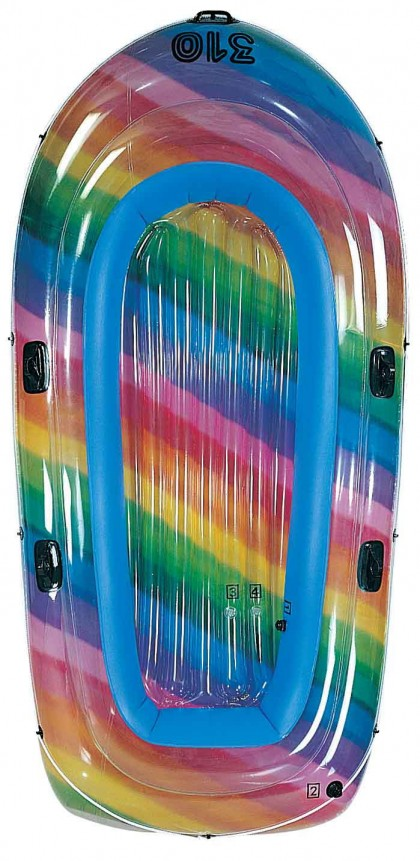 1 or 2 or 3 Man Boat with Rainbow pattern